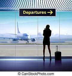 information, aéroport, signage