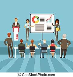 information, commandant, graphique, business, accomplissement, actionnaires, résultats, matériels, diagrammes, présentation, régulier