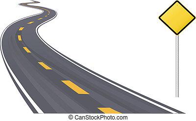 information, espace, signe, trafic, copie, autoroute