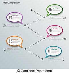 information, graphisme, gabarit, bulles, parler