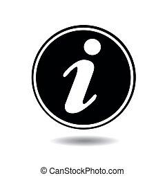 information, icône, vecteur, illustration