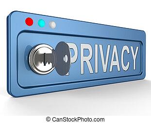 information, intimité, serrure, illustration, protection, spectacles, 3d