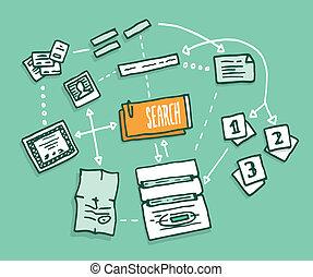 information numérique, données, algorithm, rassemblement, recherche
