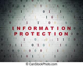 information, protection, papier, sécurité, fond, numérique, concept: