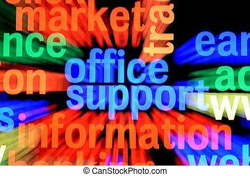 information, soutien, bureau