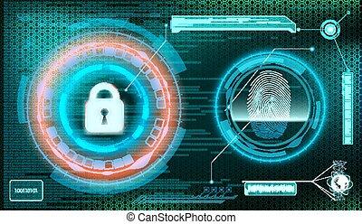 information., stockage, rue, arrière-plan., protection, technologie