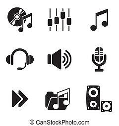 informatique, audio, icônes