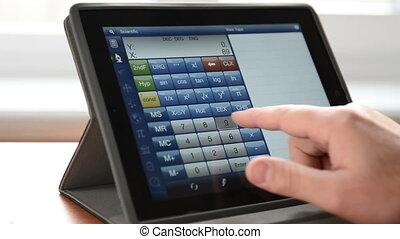 informatique, calculer, tablette