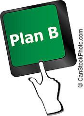 informatique, -, concept, business, clavier, plan, b, clã©