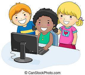 informatique, gosses