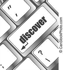 informatique, mot, découvrir, clã©, clavier