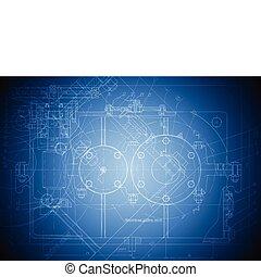ingénierie, high-tech, dessin