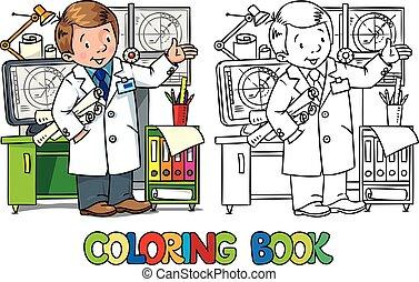 ingénieur, book., abc, profession, coloration, série