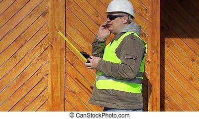 ingénieur, mètre à ruban