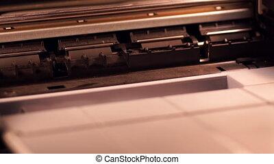 ink-jet, imprimante, travail, chronocinématographie