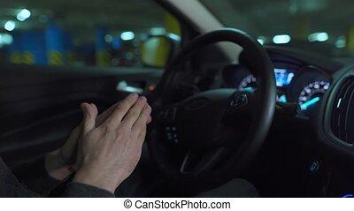 innovateur, autopilot, lot, automatisé, conduite, voiture, homme, stationnement, self-parking, utilisation