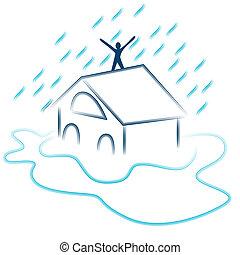 inondation, flash, urgence