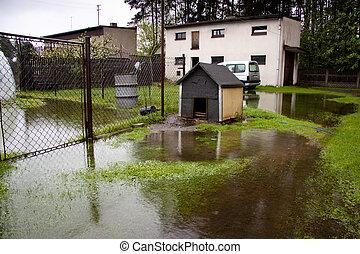 inondation, temps