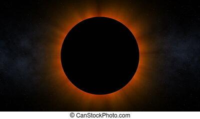 inquiétant, éclipse, solaire, (60fps)