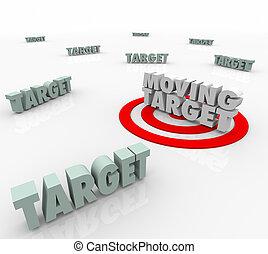 insaisissable, cible, stratégie, en mouvement, plan, changer, trouver, emplacement