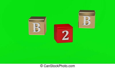 inscription, écran, vert, b2b