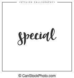 inscription, locution, isolé, fond, blanc, calligraphie, spécial