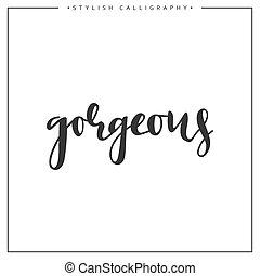 inscription, locution, isolé, fond, magnifique, blanc, calligraphie