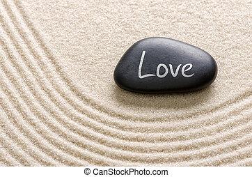 inscription, pierre, amour, noir
