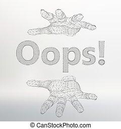 inscription, vecteur, lattice., -, illustration, arm., maille, oops, polygons., moléculaire, structural
