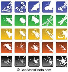 insecte, icônes