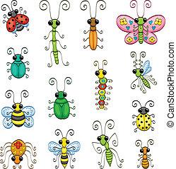 insectes, dessin animé