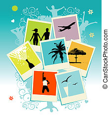 insertion, image, collage, cadre, photos., template., ton