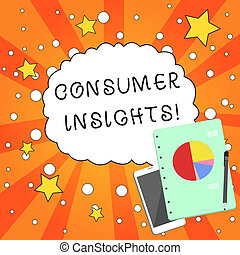 insights., stylo bille, smartphone, basé, fermé, business, photo, projection, bloc-notes, tarte, écriture, note, leur, clients, chart., comportement, showcasing, disposition, compréhension, consommateur, achat