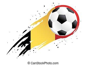 insigne, balle, résumé, fond, belgique, football