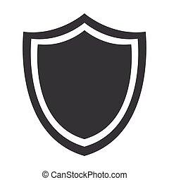 insigne, sécurité, protection, emblème, bouclier