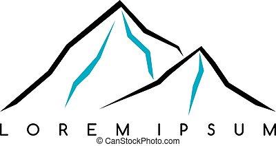 insigne, s'élever montagne, extérieur, randonnée, activités, everest, autre, aventure, trekking, logo, alpinisme, extrême