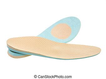 insoles, orthopédique, chaussure