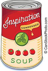 inspir, soupe tomate, condensed, boîte