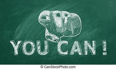inspirationnel, vous, citation, can., motivation