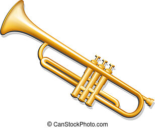 instrument, laiton, musical, vent, trumpet.