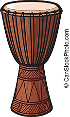 instrument), tambour, africaine, (music