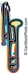 instrument, vecteur, musique, illustration