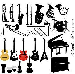 instruments, collection musique