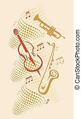 instruments, jazz