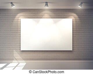 intérieur, affiche, galerie