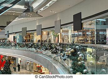 intérieur, centre commercial, achats