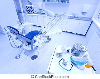 intérieur, dentaire, clinique