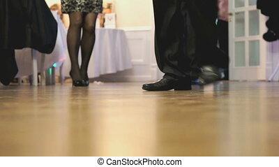 intérieur, fête, gens, danse