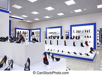 intérieur, magasin, chaussure