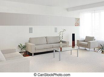 intérieur, maison, moderne